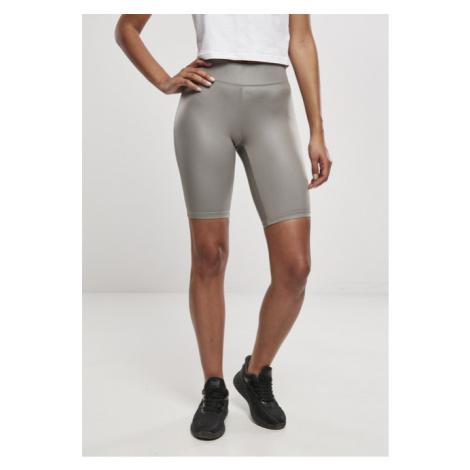 Urban Classics Ladies Imitation Leather Cycle Shorts asphalt