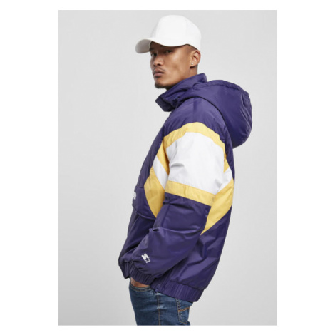 Starter Color Block Half Zip Retro Jacket starter purple/wht/buff yellow
