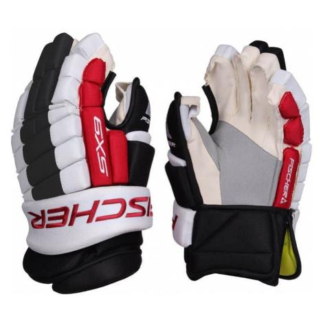 """SX9 SR hokejové rukavice barva: černá-bílá;délka: 13"""" Fischer"""