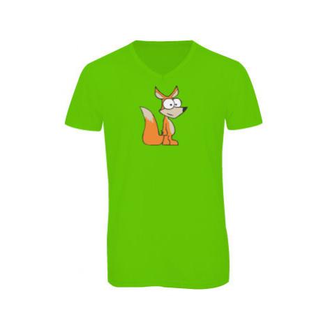 Pánské triko s výstřihem do V Liška