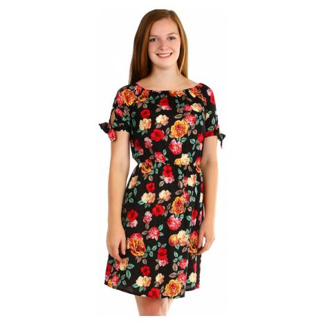 Dámské letní šaty s květovaným vzorem