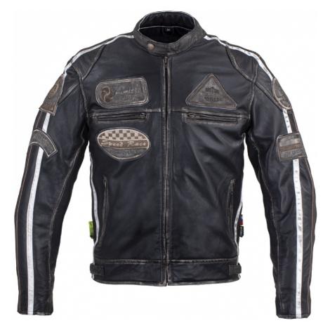 Pánská Kožená Moto Bunda W-Tec Sheawen Vintage Černá