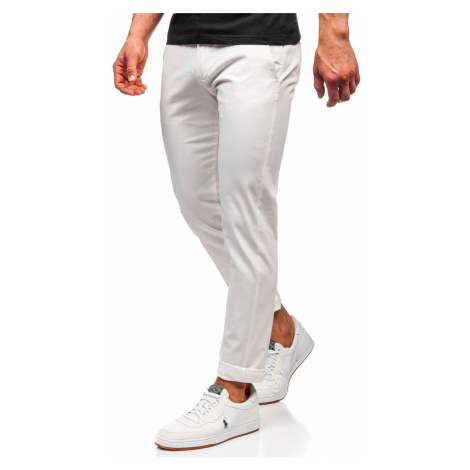 Bílé pánské chino kalhoty Bolf 1143