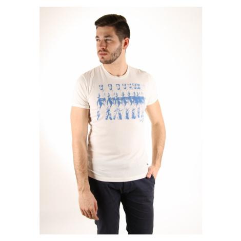 Pepe Jeans pánské smetanové tričko