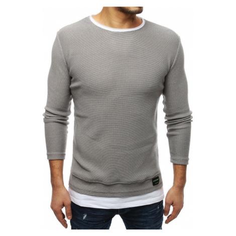 Dstreet Moderní senzační šedý svetr