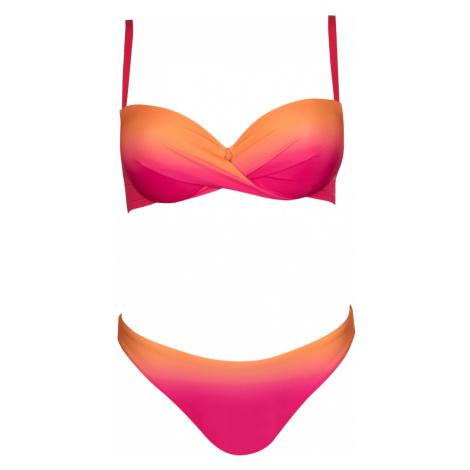 Dámské plavky Lisca 40428 Eldorado růžové | růžová