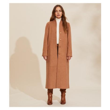Kabát Odd Molly Luna Coat - Hnědá