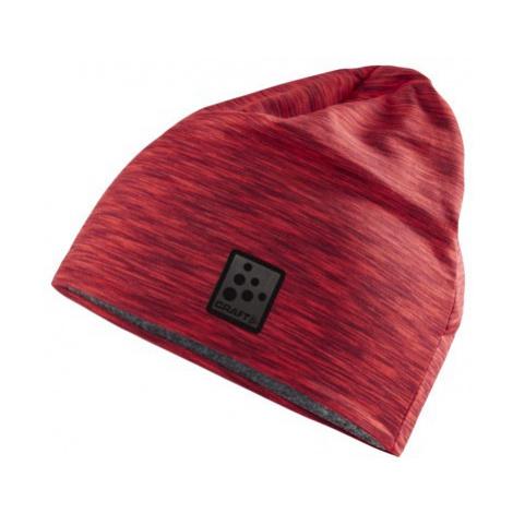 Čepice CRAFT Microfleece Ponytail červená