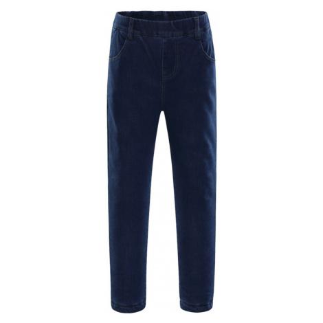 ALPINE PRO GALIO INS. Dětské jeansové kalhoty KPAK102691 námořnická modř