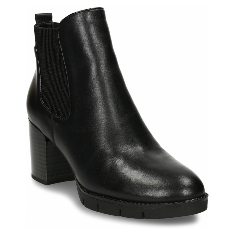 Dámská kožená obuv ve stylu Chelsea Boots se stabilním podpatkem Baťa