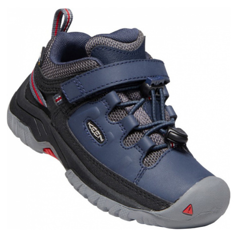 KEEN TARGHEE LOW WP C Dětská outdoorová obuv 10008037KEN01 blue nights/red carpet