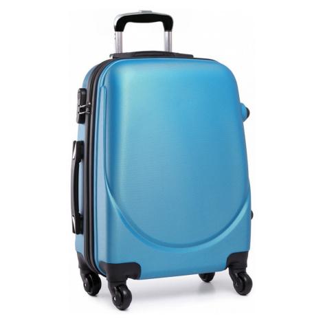 Modrý cestovní kufr se zámkem Reknie Kono