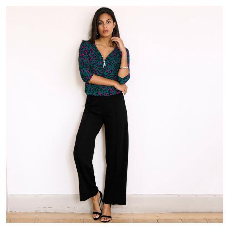 Blancheporte Široké krepové kalhoty černá