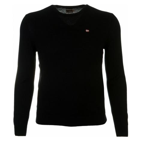 Pánský černý svetr z merino vlny Napapijri
