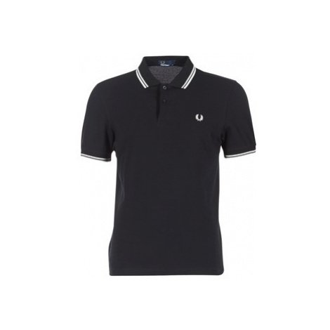 Fred Perry SLIM FIT TWIN TIPPED Černá