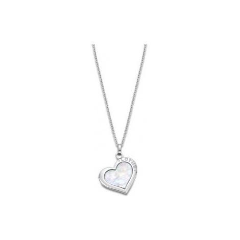 Lotus Style Ocelový náhrdelník s perleťovým srdcem LS2024-1/1