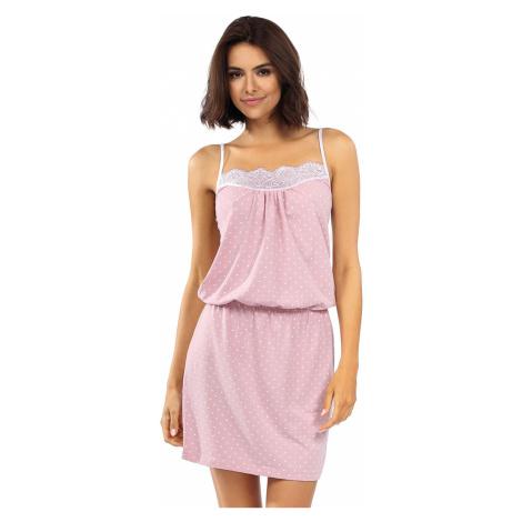 Světle růžová bavlněná noční košile Prue Lorin