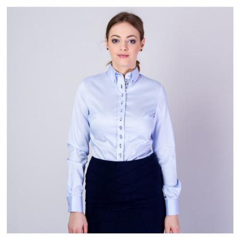 Dámská košile Long Size s tmavě modrými prvky 11637 Willsoor