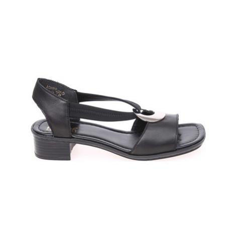 Rieker Dámské sandály 62662-01 schwarz Černá