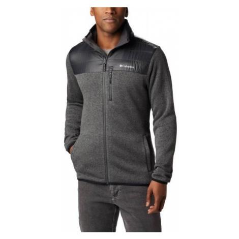 Columbia CANYON POINT™ SWEATER tmavě šedá - Pánský fleecový svetr