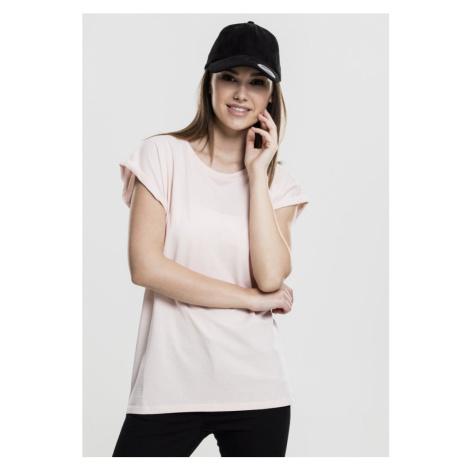 Ladies Extended Shoulder Tee - pink Urban Classics