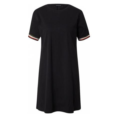 Trendyol Šaty černá / bílá / červená / zelená