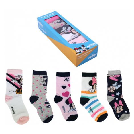5PACK dětské ponožky Cerdá Minnie vícebarevné (2200007415) Cerda