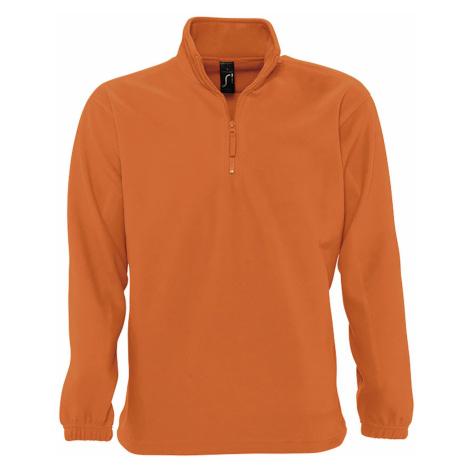 SOĽS Pánská fleecová mikina NESS 56000400 Orange SOL'S