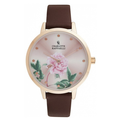 Hnedo-zlaté hodinky CRF050 Charlotte Raffaelli
