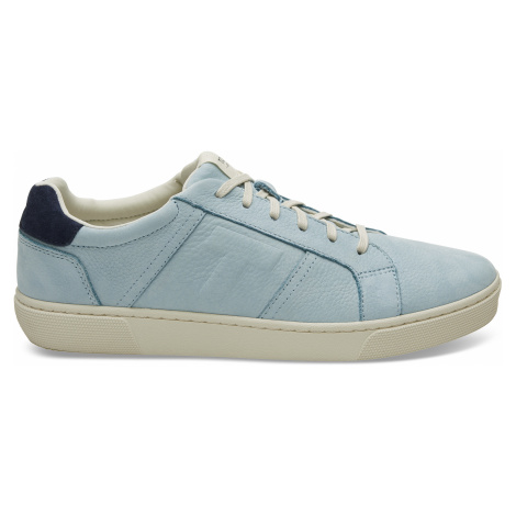 Pastel Turquoise Nubuck Leather Leandro Leather Men Sneak Toms