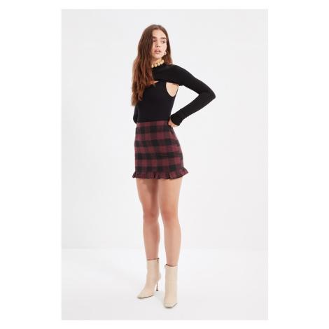 Trendyol Claret Red Ruffle Skirt
