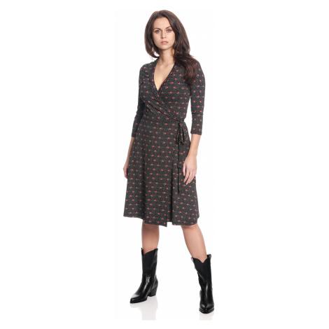 Svůdné šaty s dlouhým rukávem černé Vive Maria Sweet Rose