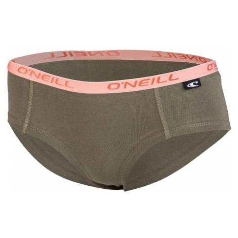 O'Neill HIPSTER STRIPES 2-PACK hnědá S - Dámské spodní kalhotky