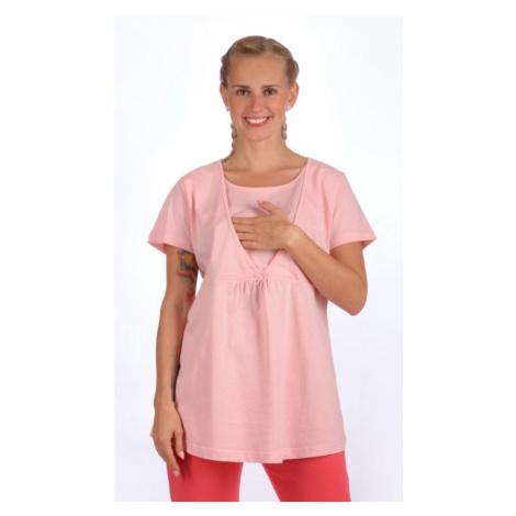 Dámské pyžamo kapri mateřské Marie, XXL, lososová Vienetta Secret