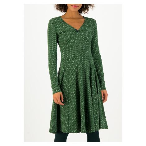 Žerzejové šaty zelené s dlouhým rukávem Blutsgeschwister Green dance