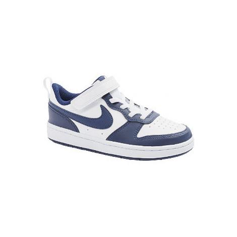 Bílo-modré tenisky na suchý zip Nike Court Borough Low