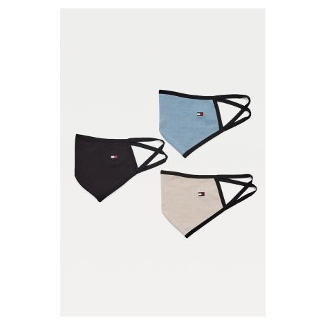Tommy Hilfiger 3-balení pánských roušek - modrá, černá, béžová