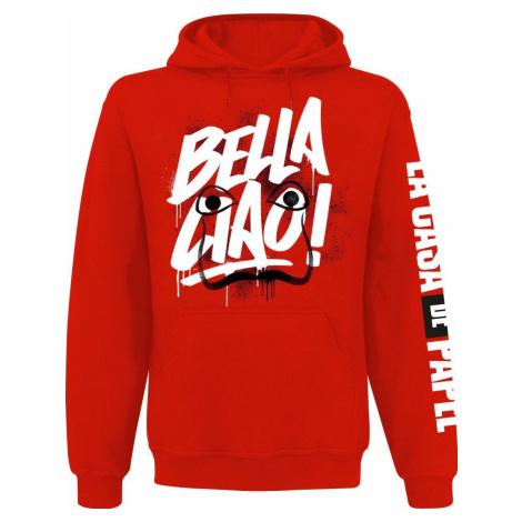 Haus des Geldes Bella Ciao Mikina s kapucí červená