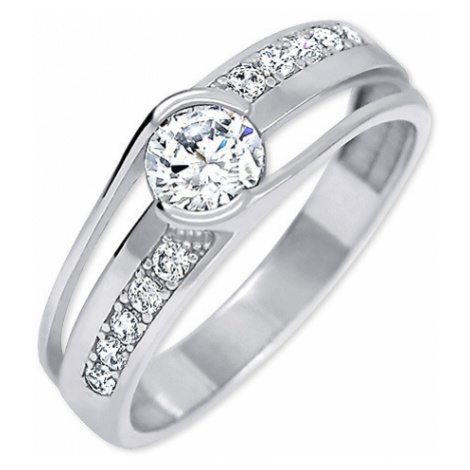 Brilio Silver Moderní stříbrný prsten 001 04