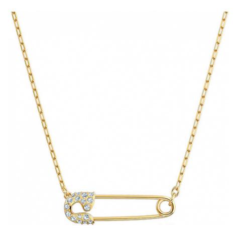 Swarovski Pozlacený náhrdelník se zavíracím špendlíkem So Cool