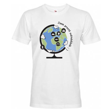 Pánské tričko Jsem prostě světoběžník - skvělý dárek pro všechny turisty BezvaTriko