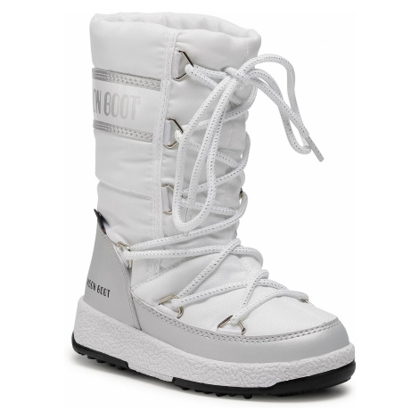 Sněhule MOON BOOT - Jr G.Quilted Wp 34051400004 M White/Silver