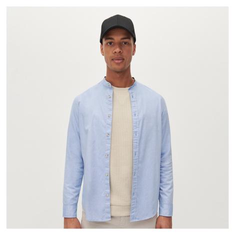 Reserved - Košile slim fit se stojáčkem - Modrá