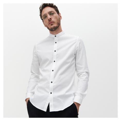 Reserved - Košile super slim fit se stojáčkem - Bílá