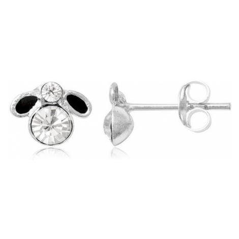 Stříbrné puzetové náušnice - malá černá muška Šperky eshop