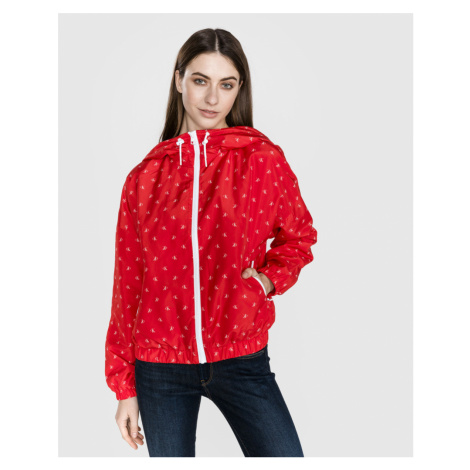Calvin Klein dámská červená bunda Monogram