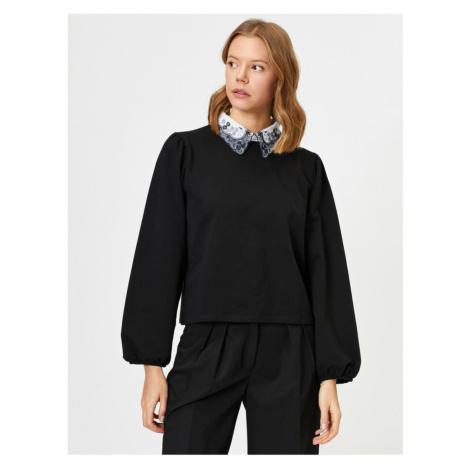 Koton Women's Black Flywheel T-Shirt