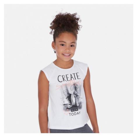 Dívčí triko Mayoral 6024 | bílá