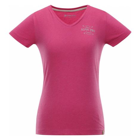 ALPINE PRO KERPA 3 Dámské triko LTSN447415PA Fuchsiová růžová