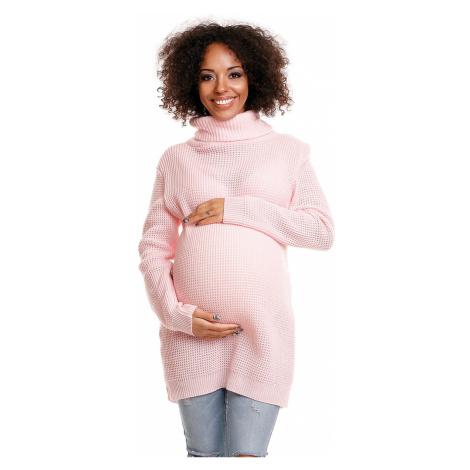 Světle růžový těhotenský pulovr 30044C PeeKaBoo